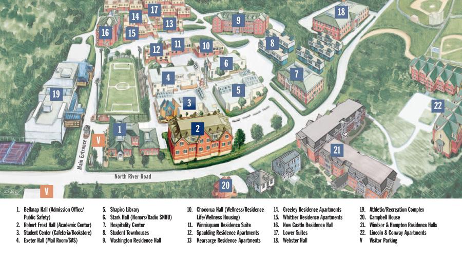 Campus map courtesy SNHU